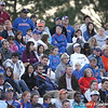 photo by Tim Casey<br /> <br /> A crowd of 2,398 fans watch during the Gators' 4-3 win in nine innings against the Florida State Seminoles on Wednesday, April 8, 2009 at Katie Seashole Pressly Softball Stadium in Gainesville, Fla.