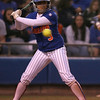 photo by Tim Casey<br /> <br /> Florida sophomore second baseman Aja Paculba bats during the eighth inning of the Gators' 4-3 win in nine innings against the Florida State Seminoles on Wednesday, April 8, 2009 at Katie Seashole Pressly Softball Stadium in Gainesville, Fla.