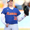 photo by Tim Casey<br /> <br /> Florida sophomore pitcher Stephanie Brombacher gets in the circle during the fifth inning of the Gators' 4-3 win in nine innings against the Florida State Seminoles on Wednesday, April 8, 2009 at Katie Seashole Pressly Softball Stadium in Gainesville, Fla.