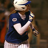 photo by Tim Casey<br /> <br /> Florida junior left fielder Francesca Enea hits a walk-off home run during the ninth inning of the Gators' 4-3 win against the Florida State Seminoles on Wednesday, April 8, 2009 at Katie Seashole Pressly Softball Stadium in Gainesville, Fla.