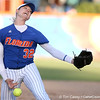 photo by Tim Casey<br /> <br /> Florida sophomore pitcher Stephanie Brombacher winds up during the fifth inning of the Gators' 4-3 win in nine innings against the Florida State Seminoles on Wednesday, April 8, 2009 at Katie Seashole Pressly Softball Stadium in Gainesville, Fla.