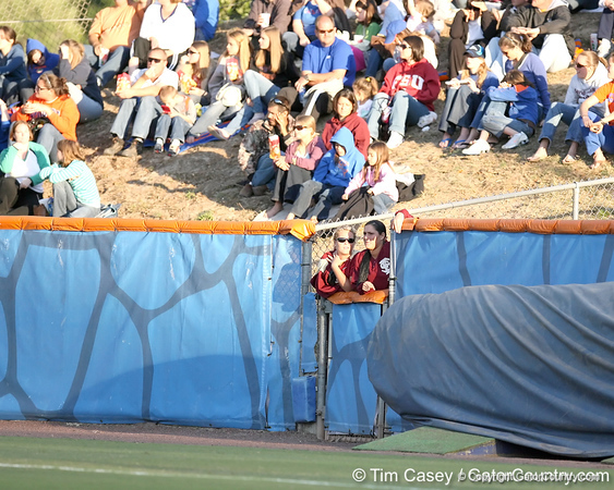 photo by Tim Casey<br /> <br /> FSU pitcher Terese Gober watches from the bullpen during the Gators' 4-3 win in nine innings against the Seminoles on Wednesday, April 8, 2009 at Katie Seashole Pressly Softball Stadium in Gainesville, Fla.