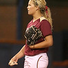 photo by Tim Casey<br /> <br /> FSU pitcher Terese Gober prepares to pitch during the ninth inning of the Gators' 4-3 win in nine innings against the Florida State Seminoles on Wednesday, April 8, 2009 at Katie Seashole Pressly Softball Stadium in Gainesville, Fla.