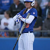 photo by Tim Casey<br /> <br /> Florida junior left fielder Francesca Enea bats during the sixth inning of the Gators' 4-3 win in nine innings against the Florida State Seminoles on Wednesday, April 8, 2009 at Katie Seashole Pressly Softball Stadium in Gainesville, Fla.