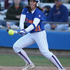 photo by Tim Casey<br /> <br /> Florida senior catcher Kristina Hilberth hits a single during the fifth inning of the Gators' 4-3 win in nine innings against the Florida State Seminoles on Wednesday, April 8, 2009 at Katie Seashole Pressly Softball Stadium in Gainesville, Fla.