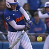 photo by Tim Casey<br /> <br /> Florida junior third baseman Corrie Brooks lines out to shortstop during the seventh inning of the Gators' 4-3 win in nine innings against the Florida State Seminoles on Wednesday, April 8, 2009 at Katie Seashole Pressly Softball Stadium in Gainesville, Fla.
