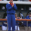 photo by Tim Casey<br /> <br /> Florida head coach Tim Walton cheers during the seventh inning of the Gators' 4-3 win in nine innings against the Florida State Seminoles on Wednesday, April 8, 2009 at Katie Seashole Pressly Softball Stadium in Gainesville, Fla.