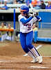 (Casey Brooke Lawson / Gator Country) UF Senior Kristina Hilberth prepares to take a swing in University of Florida's game against Georgia Tech. The Gators defeated the Yellow jackets in six innings, 11 to 1, on Sunday, February 15, 2009 during the Lipton Softball Invitational championship at Katie Seashole Pressly Stadium.