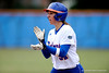 (Casey Brooke Lawson / Gator Country) Kristina Hilberth claps in celebration during University of Florida's game against Georgia Tech. The Gators defeated the Yellow jackets in six innings, 11 to 1, on Sunday, February 15, 2009 during the Lipton Softball Invitational championship at Katie Seashole Pressly Stadium.