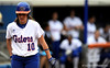 (Casey Brooke Lawson / Gator Country) Francesca Enea walks toward home plate before batting during University of Florida's game against Georgia Tech. The Gators defeated the Yellow jackets in six innings, 11 to 1, on Sunday, February 15, 2009 during the Lipton Softball Invitational championship at Katie Seashole Pressly Stadium.
