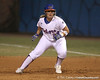 photo by Tim Casey<br /> <br /> Florida sophomore Tiffany DeFelice takes a lead in the second inning during the Gators' 3-0 win against the Baylor Bears on Friday, February 6, 2009 at Katie Seashole Pressly Softball Stadium in Gainesville, Fla.