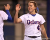 photo by Tim Casey<br /> <br /> Florida senior Stacey Nelson celebrates with teammates after the Gators' 3-0 win against the Baylor Bears on Friday, February 6, 2009 at Katie Seashole Pressly Softball Stadium in Gainesville, Fla.