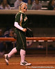 photo by Tim Casey<br /> <br /> Baylor third baseman Brette Regan shouts to teammates during the third inning of the Gators' 3-0 win against the Baylor Bears on Friday, February 6, 2009 at Katie Seashole Pressly Softball Stadium in Gainesville, Fla.