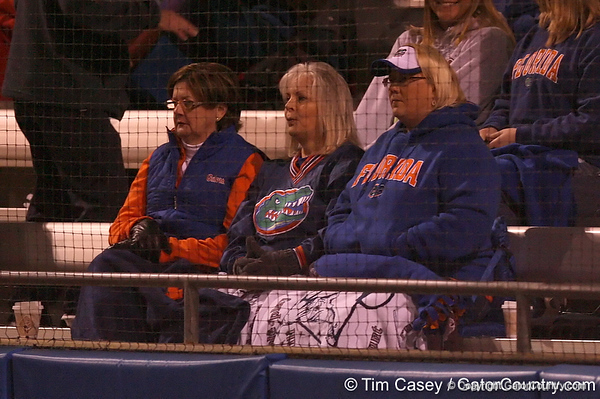 photo by Tim Casey<br /> <br /> Parents of Florida players watch during the sixth inning of the Gators' 3-0 win against the Baylor Bears on Friday, February 6, 2009 at Katie Seashole Pressly Softball Stadium in Gainesville, Fla.