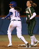 photo by Tim Casey<br /> <br /> Florida junior Francesca Enea runs to second base during the third inning of the Gators' 3-0 win against the Baylor Bears on Friday, February 6, 2009 at Katie Seashole Pressly Softball Stadium in Gainesville, Fla.