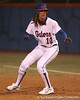 photo by Tim Casey<br /> <br /> Florida junior Francesca Enea rounds first base in the second inning during the Gators' 3-0 win against the Baylor Bears on Friday, February 6, 2009 at Katie Seashole Pressly Softball Stadium in Gainesville, Fla.