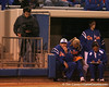 photo by Tim Casey<br /> <br /> Florida coach Tim Walton watches from the dugout in the third inning during the Gators' 3-0 win against the Baylor Bears on Friday, February 6, 2009 at Katie Seashole Pressly Softball Stadium in Gainesville, Fla.