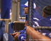 photo by Tim Casey<br /> <br /> Florida coach Tim Walton watches from the dugout during the sixth inning of the Gators' 3-0 win against the Baylor Bears on Friday, February 6, 2009 at Katie Seashole Pressly Softball Stadium in Gainesville, Fla.
