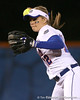 photo by Tim Casey<br /> <br /> Florida sophomore Megan Bush warms up before the fourth inning during the Gators' 3-0 win against the Baylor Bears on Friday, February 6, 2009 at Katie Seashole Pressly Softball Stadium in Gainesville, Fla.