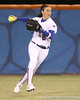 photo by Tim Casey<br /> <br /> Florida sophomore Kelsey Bruder fields a hit in the sixth inning during the Gators' 3-0 win against the Baylor Bears on Friday, February 6, 2009 at Katie Seashole Pressly Softball Stadium in Gainesville, Fla.