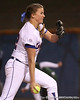 photo by Tim Casey<br /> <br /> Florida senior Stacey Nelson pitches during the seventh inning of the Gators' 3-0 win against the Baylor Bears on Friday, February 6, 2009 at Katie Seashole Pressly Softball Stadium in Gainesville, Fla.