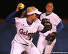photo by Tim Casey<br /> <br /> Florida sophomore Megan Bush throws out a runner during the seventh inning of the Gators' 3-0 win against the Baylor Bears on Friday, February 6, 2009 at Katie Seashole Pressly Softball Stadium in Gainesville, Fla.