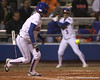 photo by Tim Casey<br /> <br /> Florida senior Kim Waleszonia attempts to bunt in the third inning during the Gators' 3-0 win against the Baylor Bears on Friday, February 6, 2009 at Katie Seashole Pressly Softball Stadium in Gainesville, Fla.