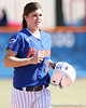 photo by Tim Casey<br /> <br /> Florida senior Brooke Johnson returns to the dugout after the sixth inning of the Gators' 1-0 loss to the Baylor Bears on Sunday, February 8, 2009 at Katie Seashole Pressly Softball Stadium in Gainesville, Fla.