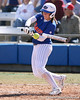 photo by Tim Casey<br /> <br /> Florida senior catcher Kristina Hilberth fouls off a pitch during the fifth inning of the Gators' 1-0 loss to the Baylor Bears on Sunday, February 8, 2009 at Katie Seashole Pressly Softball Stadium in Gainesville, Fla.