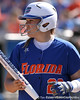 photo by Tim Casey<br /> <br /> Florida sophomore Tiffany DeFelice returns to the dugout after popping out to shortstop during the Gators' 1-0 loss to the Baylor Bears on Sunday, February 8, 2009 at Katie Seashole Pressly Softball Stadium in Gainesville, Fla.