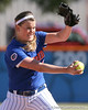 photo by Tim Casey<br /> <br /> Florida senior Stacey Nelson pitches during the fifth inning of the Gators' 1-0 loss to the Baylor Bears on Sunday, February 8, 2009 at Katie Seashole Pressly Softball Stadium in Gainesville, Fla.