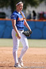 photo by Tim Casey<br /> <br /> Florida senior pitcher Stacey Nelson eyes the catcher's sign during the fifth inning of the Gators' 1-0 loss to the Baylor Bears on Sunday, February 8, 2009 at Katie Seashole Pressly Softball Stadium in Gainesville, Fla.