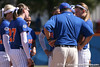 photo by Tim Casey<br /> <br /> Florida head coach Tim Walton talks with senior pitcher Stacey Nelson during the fifth inning of the Gators' 1-0 loss to the Baylor Bears on Sunday, February 8, 2009 at Katie Seashole Pressly Softball Stadium in Gainesville, Fla.