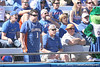 photo by Tim Casey<br /> <br /> Florida fans protest a close play at first base during the seventh inning of the Gators' 1-0 loss to the Baylor Bears on Sunday, February 8, 2009 at Katie Seashole Pressly Softball Stadium in Gainesville, Fla.