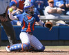 photo by Tim Casey<br /> <br /> Florida senior catcher Kristina Hilberth returns the ball to the pitcher during the fourth inning of the Gators' 1-0 loss to the Baylor Bears on Sunday, February 8, 2009 at Katie Seashole Pressly Softball Stadium in Gainesville, Fla.