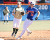 photo by Tim Casey<br /> <br /> Florida senior Brooke Johnson rounds second base during the sixth inning of the Gators' 1-0 loss to the Baylor Bears on Sunday, February 8, 2009 at Katie Seashole Pressly Softball Stadium in Gainesville, Fla.