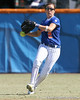 photo by Tim Casey<br /> <br /> Florida sophomore Kelsey Bruder returns the ball to the infield during the fifth inning of the Gators' 1-0 loss to the Baylor Bears on Sunday, February 8, 2009 at Katie Seashole Pressly Softball Stadium in Gainesville, Fla.