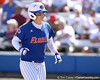 photo by Tim Casey<br /> <br /> Florida sophomore shortstop Megan Bush returns to the dugout after getting replaced by a pinch runner during the fifth inning of the Gators' 1-0 loss to the Baylor Bears on Sunday, February 8, 2009 at Katie Seashole Pressly Softball Stadium in Gainesville, Fla.