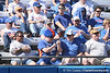 photo by Tim Casey<br /> <br /> Florida fans celebrate after a strikeout during the third inning of the Gators' 1-0 loss to the Baylor Bears on Sunday, February 8, 2009 at Katie Seashole Pressly Softball Stadium in Gainesville, Fla.