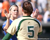photo by Tim Casey<br /> <br /> Florida senior pitcher Stacey Nelson shakes hands with opponents after the Gators' 1-0 loss to the Baylor Bears on Sunday, February 8, 2009 at Katie Seashole Pressly Softball Stadium in Gainesville, Fla.