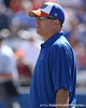 photo by Tim Casey<br /> <br /> Florida head coach Tim Walton watches from the dugout during the fifth inning of the Gators' 1-0 loss to the Baylor Bears on Sunday, February 8, 2009 at Katie Seashole Pressly Softball Stadium in Gainesville, Fla.