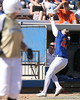photo by Tim Casey<br /> <br /> Florida junior third baseman Corrie Brooks catches a pop foul to retire Brette Reagan during the fourth inning of the Gators' 1-0 loss to the Baylor Bears on Sunday, February 8, 2009 at Katie Seashole Pressly Softball Stadium in Gainesville, Fla.