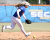 photo by Tim Casey<br /> <br /> Florida shortstop Megan Bush chases a misplayed ball that allowed a run to score during the fifth inning of the Gators' 1-0 loss to the Baylor Bears on Sunday, February 8, 2009 at Katie Seashole Pressly Softball Stadium in Gainesville, Fla.
