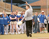 photo by Tim Casey<br /> <br /> Florida men's basketball head coach Billy Donovan waves to fans during the Gator softball team's Swinging for Cancer event on Sunday, February 1, 2009 at Katie Seashole Pressly Softball Stadium in Gainesville, Fla.