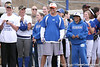 photo by Tim Casey<br /> <br /> Florida baseball head coach Kevin O'Sullivan watches during the Gator softball team's Swinging for Cancer event on Sunday, February 1, 2009 at Katie Seashole Pressly Softball Stadium in Gainesville, Fla.