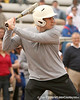 photo by Tim Casey<br /> <br /> Florida men's basketball head coach Billy Donovan bats during the Gator softball team's Swinging for Cancer event on Sunday, February 1, 2009 at Katie Seashole Pressly Softball Stadium in Gainesville, Fla.