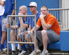 photo by Tim Casey<br /> <br /> Florida baseball's Teddy Foster and Avery Barnes watch during the Gator softball team's Swinging for Cancer event on Sunday, February 1, 2009 at Katie Seashole Pressly Softball Stadium in Gainesville, Fla.