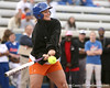 photo by Tim Casey<br /> <br /> Florida diving alumna Jennifer Funch bats during the Gator softball team's Swinging for Cancer event on Sunday, February 1, 2009 at Katie Seashole Pressly Softball Stadium in Gainesville, Fla.