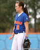 photo by Tim Casey<br /> <br /> Florida sophomore Kelsey Bruder watches during the Gator softball team's Swinging for Cancer event on Sunday, February 1, 2009 at Katie Seashole Pressly Softball Stadium in Gainesville, Fla.