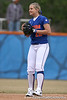 photo by Tim Casey<br /> <br /> Florida sophomore shortstop Megan Bush smiles during the Gator softball team's Swinging for Cancer event on Sunday, February 1, 2009 at Katie Seashole Pressly Softball Stadium in Gainesville, Fla.